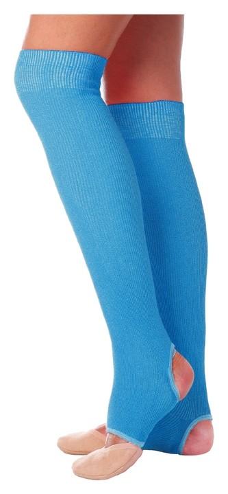 Гетры для танцев №5, без носка и пятки, L= 60 см, цвет бирюзовый  Grace dance