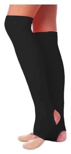 Гетры для танцев №5, без носка и пятки, L= 50 см, цвет чёрный  Grace dance