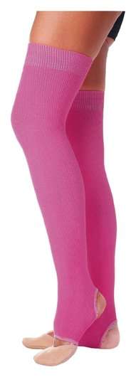 Гетры для танцев №5, без носка и пятки, L= 60 см, цвет фуксия  Grace dance