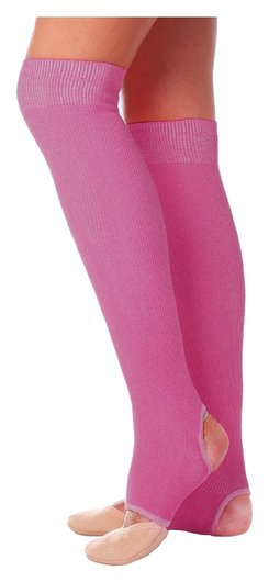 Гетры для танцев №5, без носка и пятки, L= 50 см, цвет фуксия  Grace dance