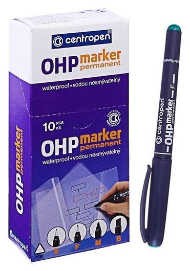 Маркер Centropen 2636 для Ohp, перманентный, 0.6 мм, зелёный  Centropen