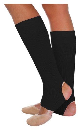 Гетры для танцев №5, без носка и пятки, L= 30 см, цвет чёрный  Grace dance