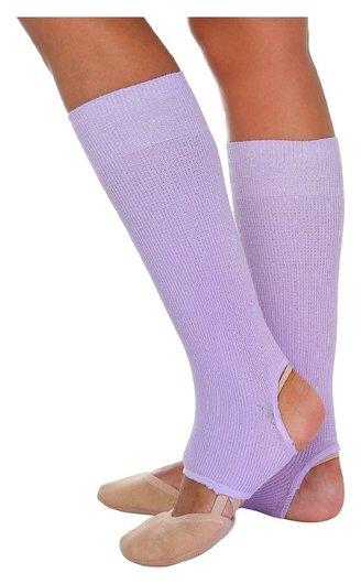 Гетры для танцев №5, без носка и пятки, L= 30 см, цвет сиреневый  Grace dance