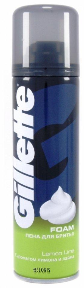 Купить Пена для бритья для лица Gillette, Пена для бритья с ароматом лимона и лайма, США