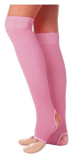 Гетры для танцев №5, без носка и пятки, L= 50 см, цвет розовый  Grace dance