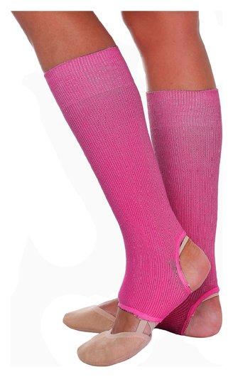 Гетры для танцев №5, без носка и пятки, L= 30 см, цвет фуксия  Grace dance