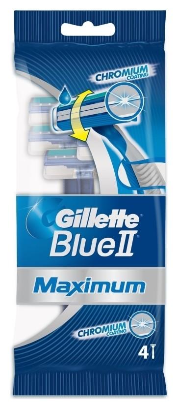 Одноразовый станок для бритья Blue II Maximum, 4 шт  Gillette