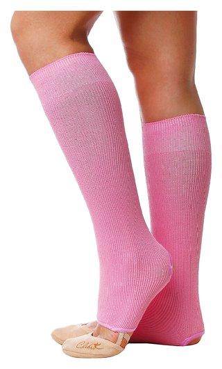 Гетры для танцев №5, без носка и пятки, L= 40 см, цвет розовый  Grace dance