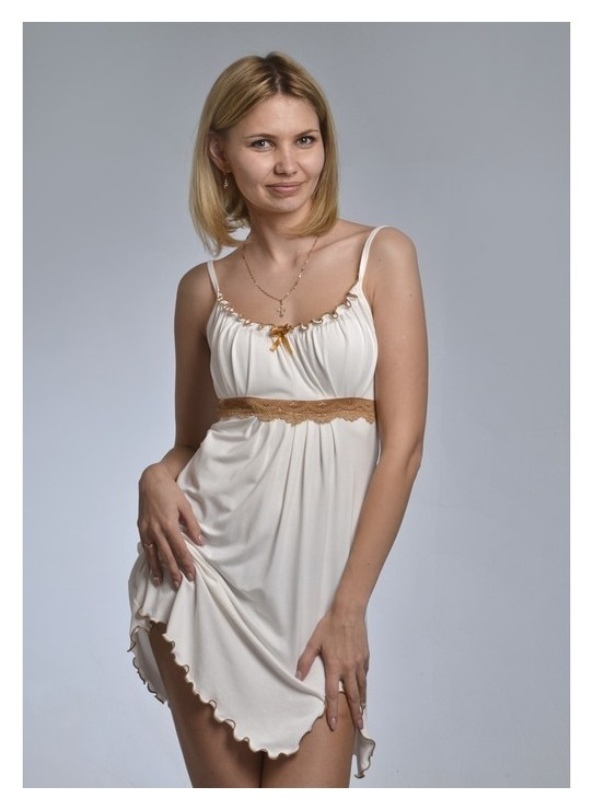 Сорочка женская «Ассоль», цвет молоко, размер 44  NNB