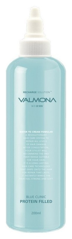 Увлажняющая маска-филлер для волос Valmona Blue Clinic Protein Filled  Evas