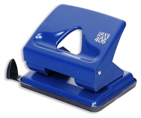 Дырокол SAX 406 до 30л., металл, с лин., синий, австрия-венгрия  Sax