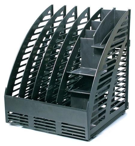 Вертикальный накопитель Attache сборный 4 отделения по 40мм+орган. черн  Attache