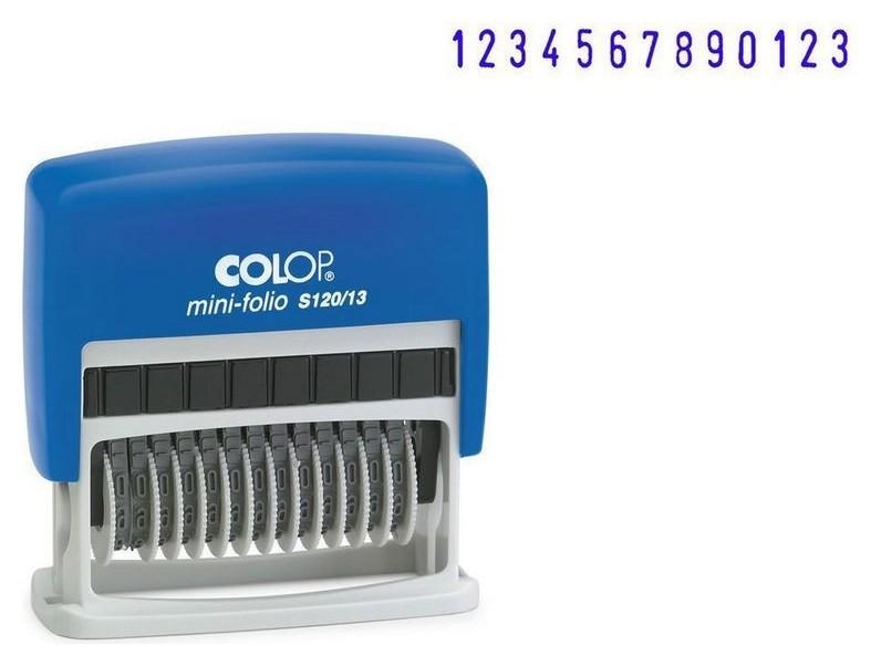 Нумератор 13-и раз. высота шрифта 3,8мм S120/13 (Аналог 48313)colop  Colop