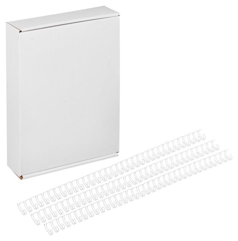 Пружины для переплета металлические Promega Office 9,5мм белые 100шт/уп.  ProMEGA