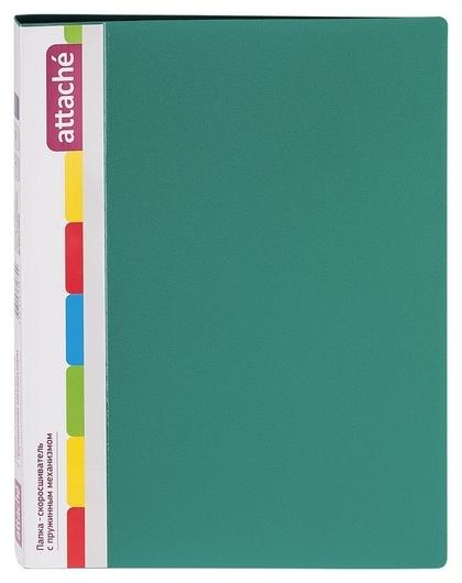 Папка скорос-тель с пруж.мех.attache F612/07 17мм зеленый  Attache