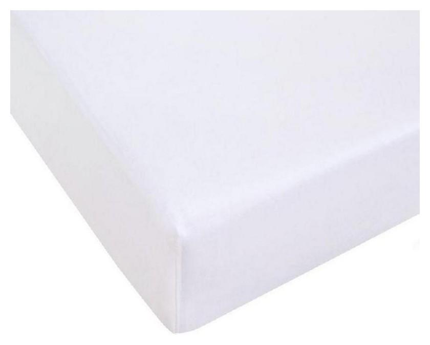 Простынь трикотажная на резинке 90х200х20,125гр/м2,белый  NNB