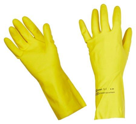 Перчатки резиновые Vileda Profes контракт латекс хлоп.напыл желт р.L 101018  Vileda