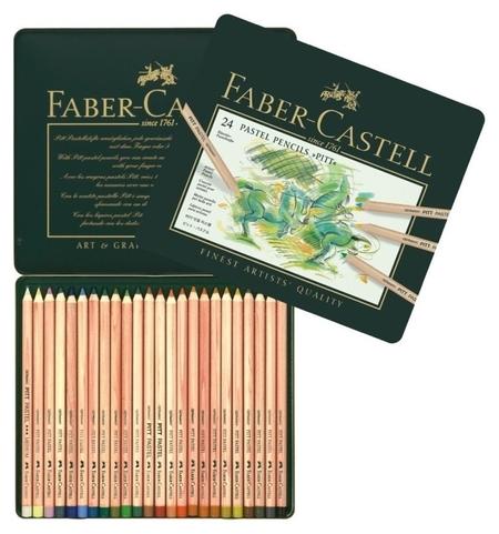Карандаши пастельные 24цв./мет.кор Faber-castell Pitt 112124 Faber-castell