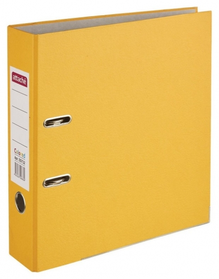 Папка-регистратор Attache Colored Light оранжевый 75мм, бум./бум.,мет.уг  Attache