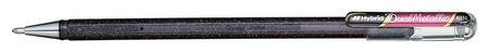 Ручка гелевая Pentel Hibrid Dual Metallic 0,55мм хамелеон черный+красный Pentel