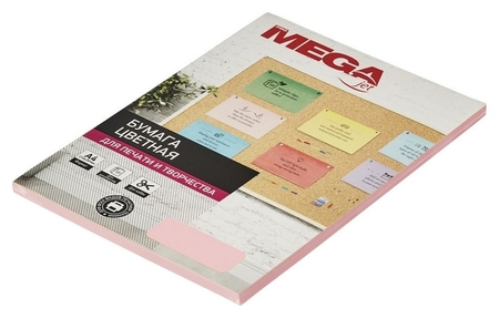 Бумага цветная Promega Jet (А4,80г,розовая пастель) пачка 50л.  ProMEGA