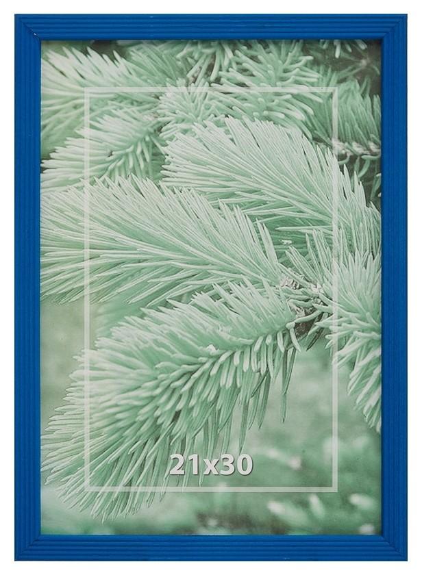 Рамка 21х30см деревянная, профиль №2, цвет ?синий?  NNB