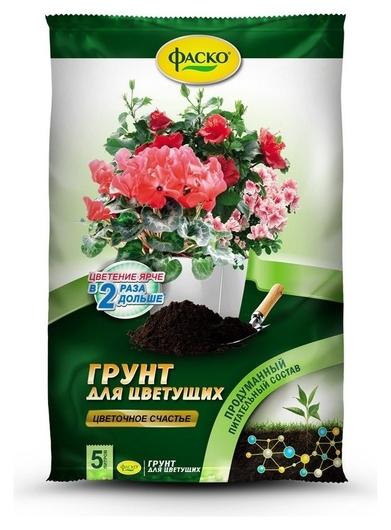 Грунт цветочное счастье для цветущих 5л фаско  Фаско