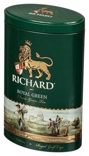 Чай Richard Royal Green зел.лист., ж/б, 80г  Richard