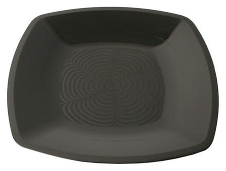 Тарелка одноразовая квадратная плоская черная 18х18см ПП 12шт/уп  АВМ