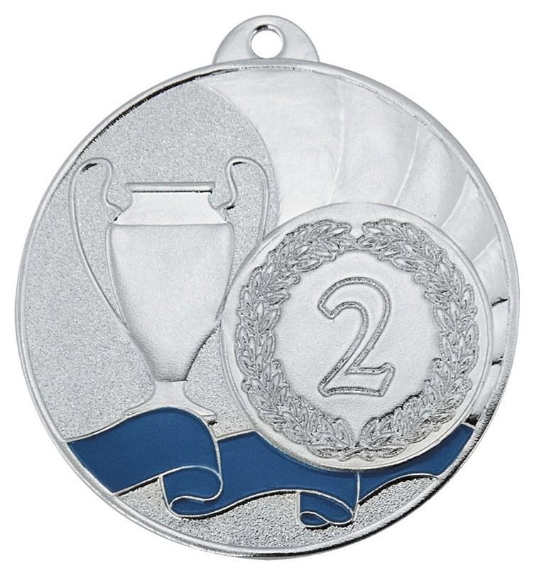 Медаль 2 место 50 мм серебро Dc#mk281b-s  NNB