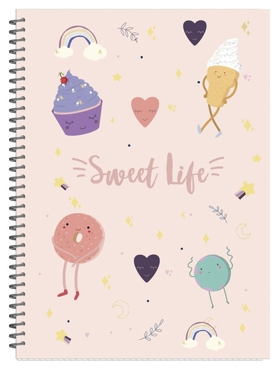 Бизнес-тетрадь а4,96л,кл,гр,мат.лам. Attache Selection Sweet Life сладости  Attache