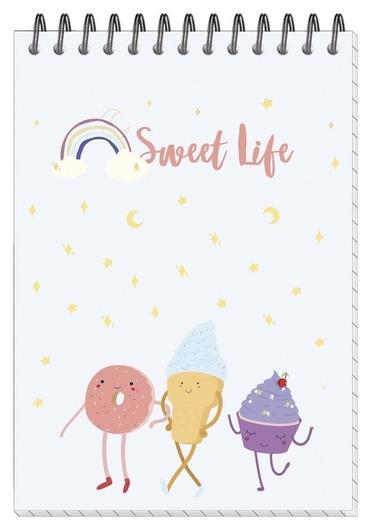 Блокнот а6,40л,кл,греб.верхн,мат.лам. Attache Selection Sweet Life сладости  Attache