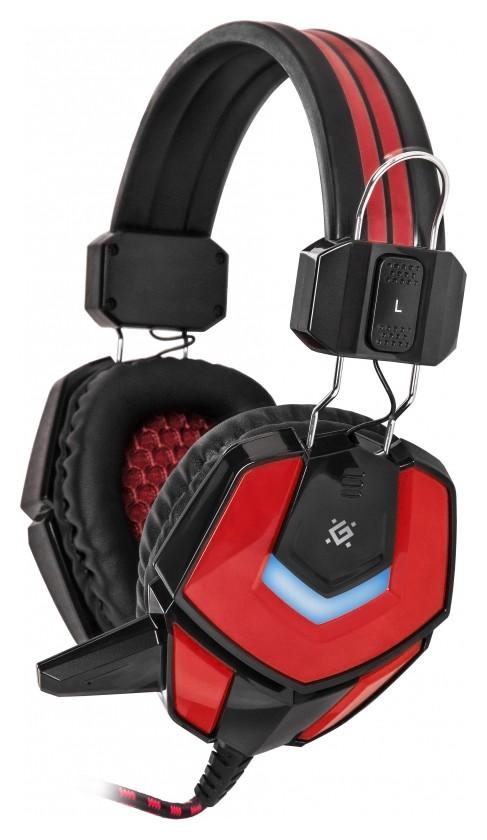Гарнитура игровая Defender Ridley, проводная, 2,2 м, черно-красная  Defender