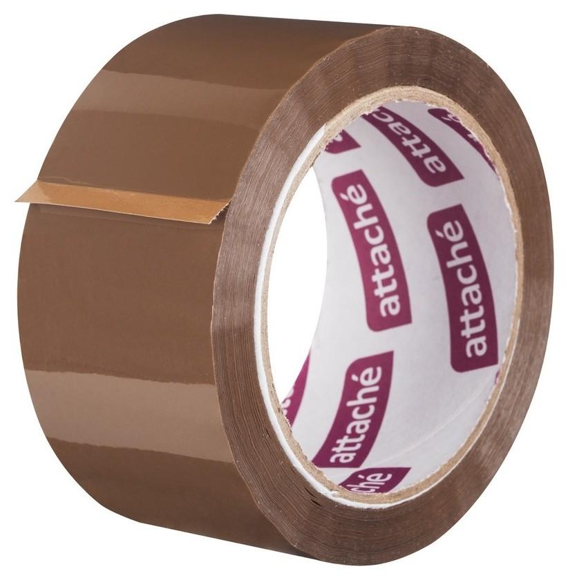 Клейкая лента упаковочная Attache 50мм х 66м 50мкм коричневая  Attache