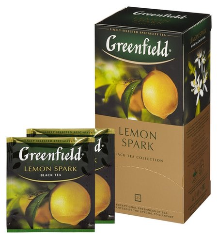 Чай Greenfield Lemon Spark черный фольгир.25пак/уп 0711-10  Greenfield