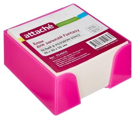Блок для зап. в подставке Attache Fantasy 9х9х5 розовый белый блок 100г/92  Attache