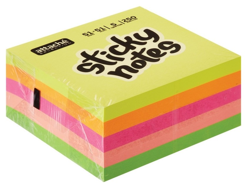 Блок-кубик Attache Selection миникуб 51х51, радуга 250 л  Attache