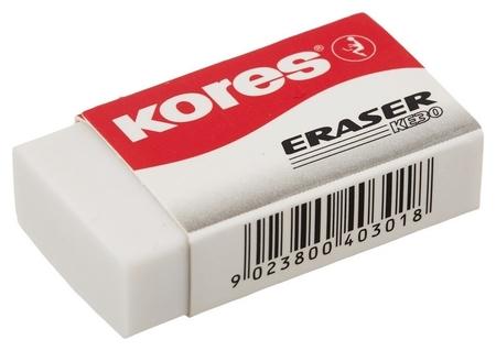 Ластик Kores,40x21x10mm,блистер,3шт,ke-30  Kores