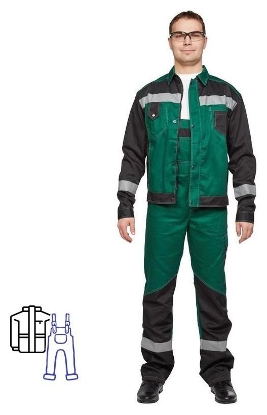Спец.одежда летняя костюм мужской л21-кпк зелен/черн. (Р.48-50) 182-188  NNB