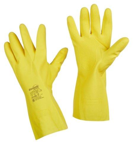 Перчатки защитные латекс Manipula форсаж (L-f-14) р.9-9,5 (L)  Manipula
