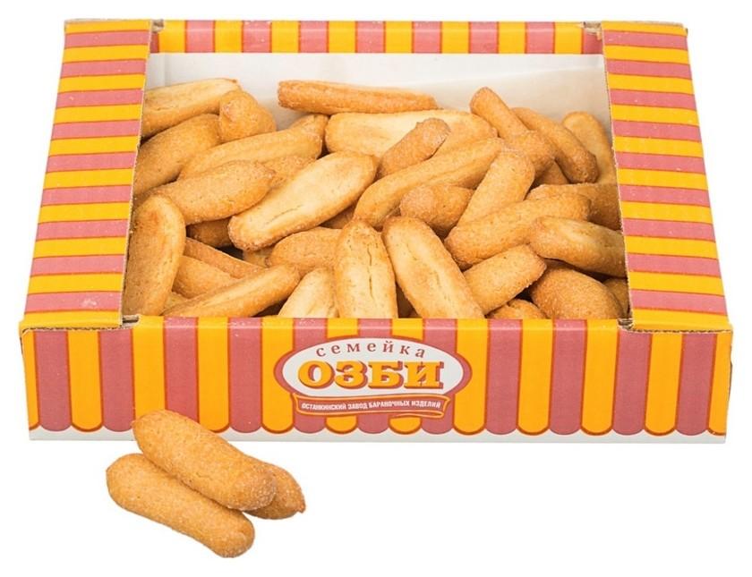 Печенье сдобное заварное озби заварная палочка с сахаром, 300 гр 1070  Семейка Озби