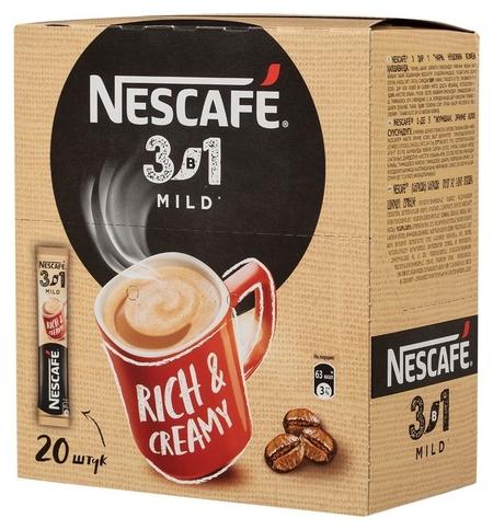 Кофе Nescafe 3 в 1 мягкий раств., шоу-бокс, 20штx14,5г  Nescafe