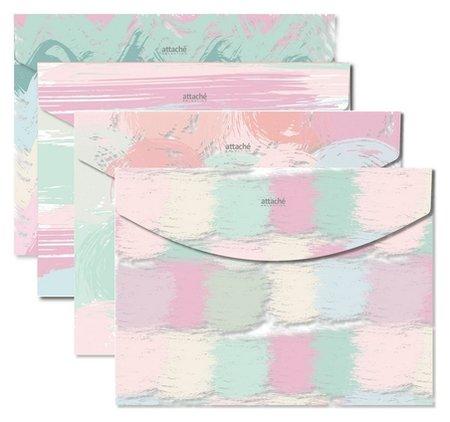 Папка конверт на кнопке А4 Attache Selection Pastel  Attache
