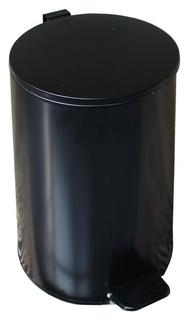 Ведро мусорное с педалью 20л стальное, черное, 250х400мм  NNB