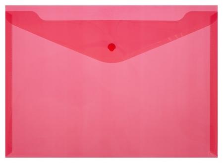 Папка-конверт на кнопке КНК 180 красный прз. 10шт/уп  Attache