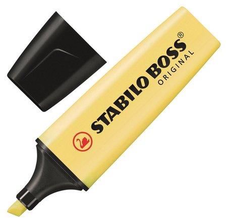 Маркер выделитель текста Stabilo Boss Original Pastel 70/144 ваниль 2-5мм  Stabilo