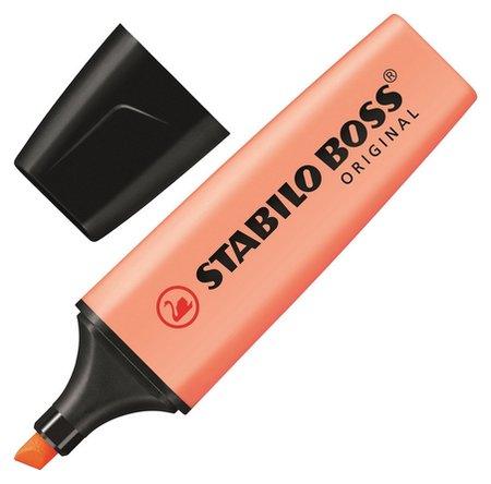 Маркер выделитель текста Stabilo Boss Original Pastel 70/126 персик 2-5мм  Stabilo