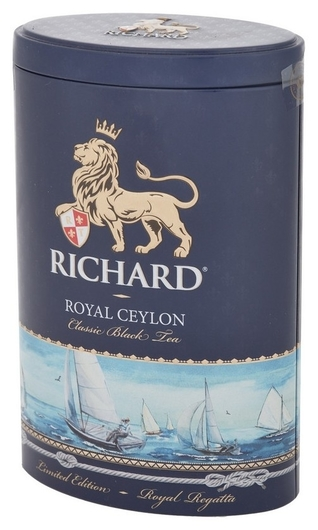 Чай Richard Royal Ceylon черный листовой, ж/б, 80г  Richard