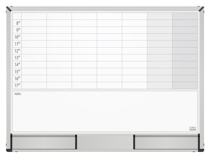 Доска магнитно-маркерная 2х3 Starboard 60х90 планер неделя,керамич.,tps003n  2x3