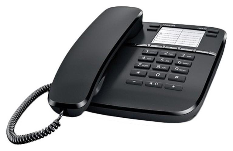 Телефон проводной Gigaset Da410 черный  Gigaset